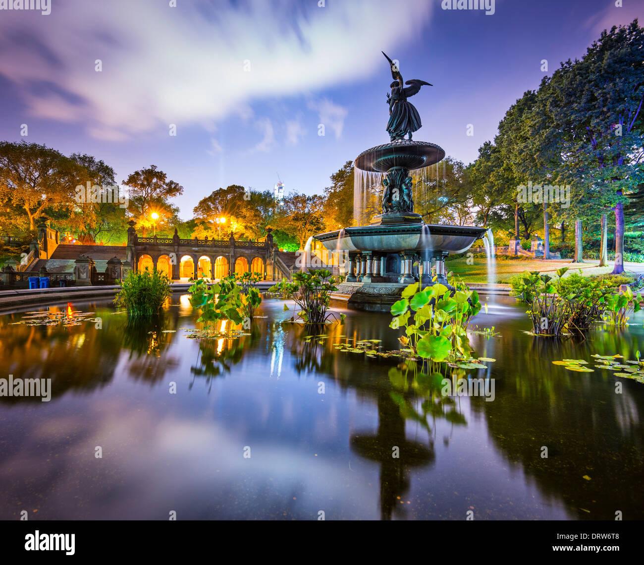 La Ciudad de Nueva York en Bethesda Terrace en Central Park. Foto de stock