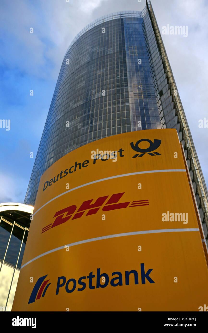 Alemania: Deutsche Post DHL sede (Post) de la torre en Bonn Foto de stock