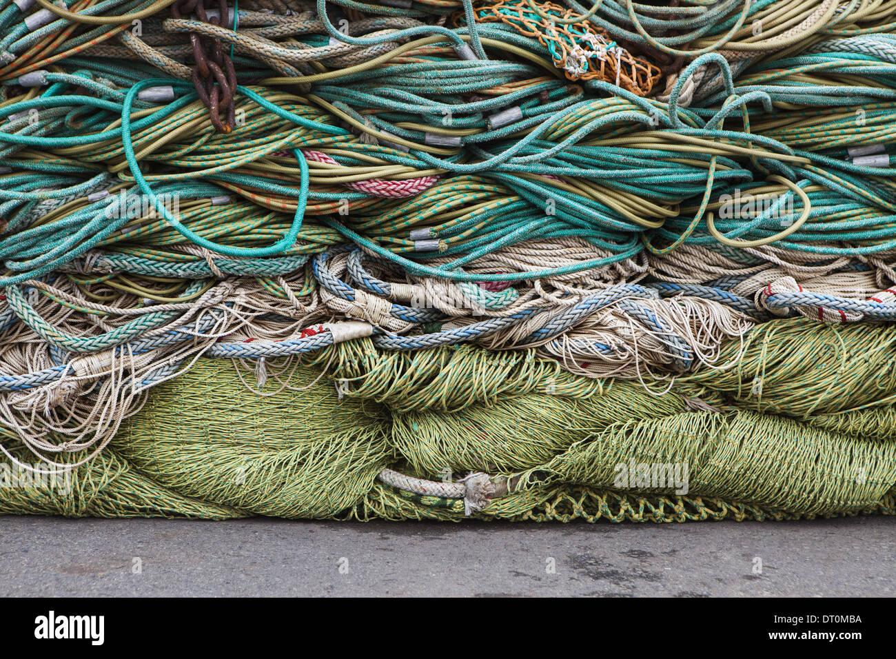 Seattle, Washington, EE.UU. redes de pesca comercial Imagen De Stock