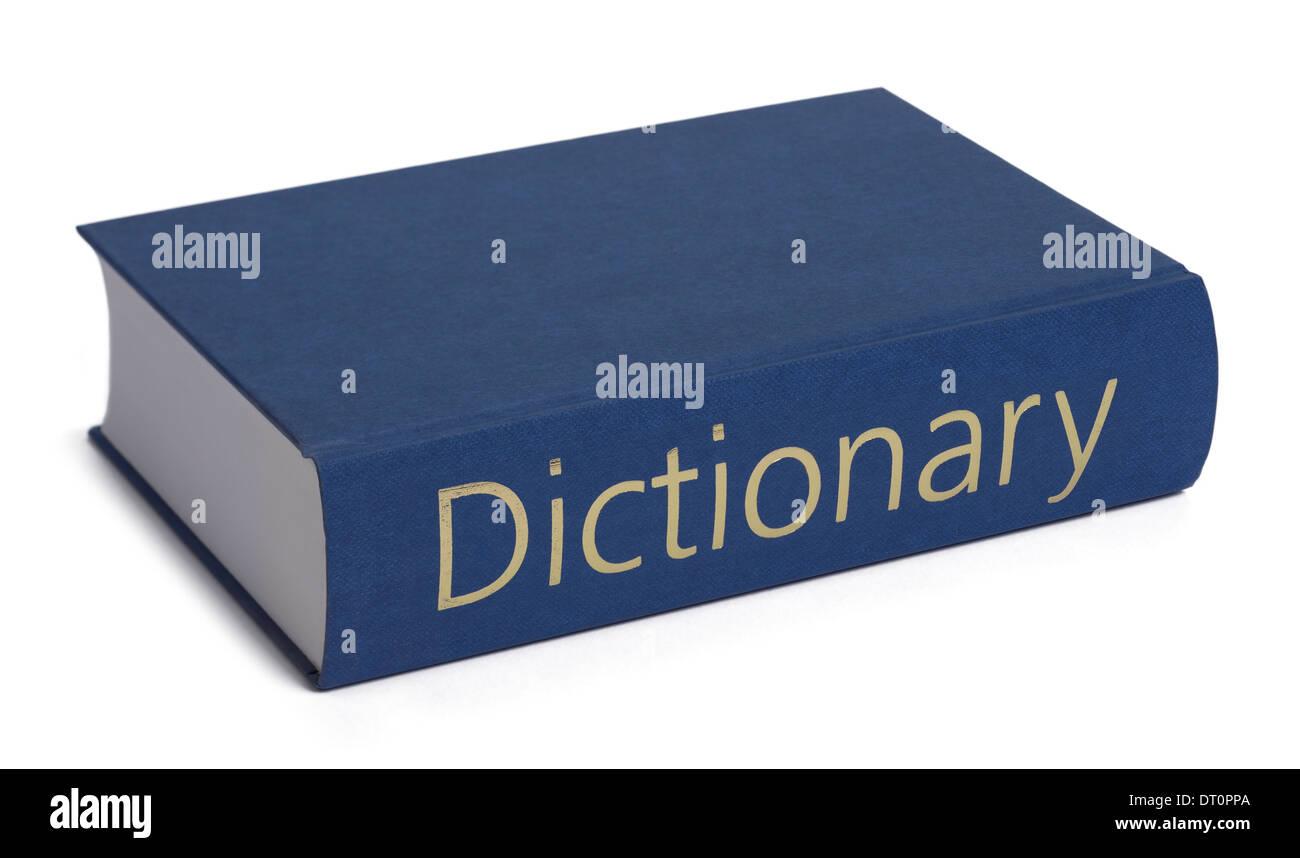Gran diccionario de tapa dura libro de referencia Foto de stock