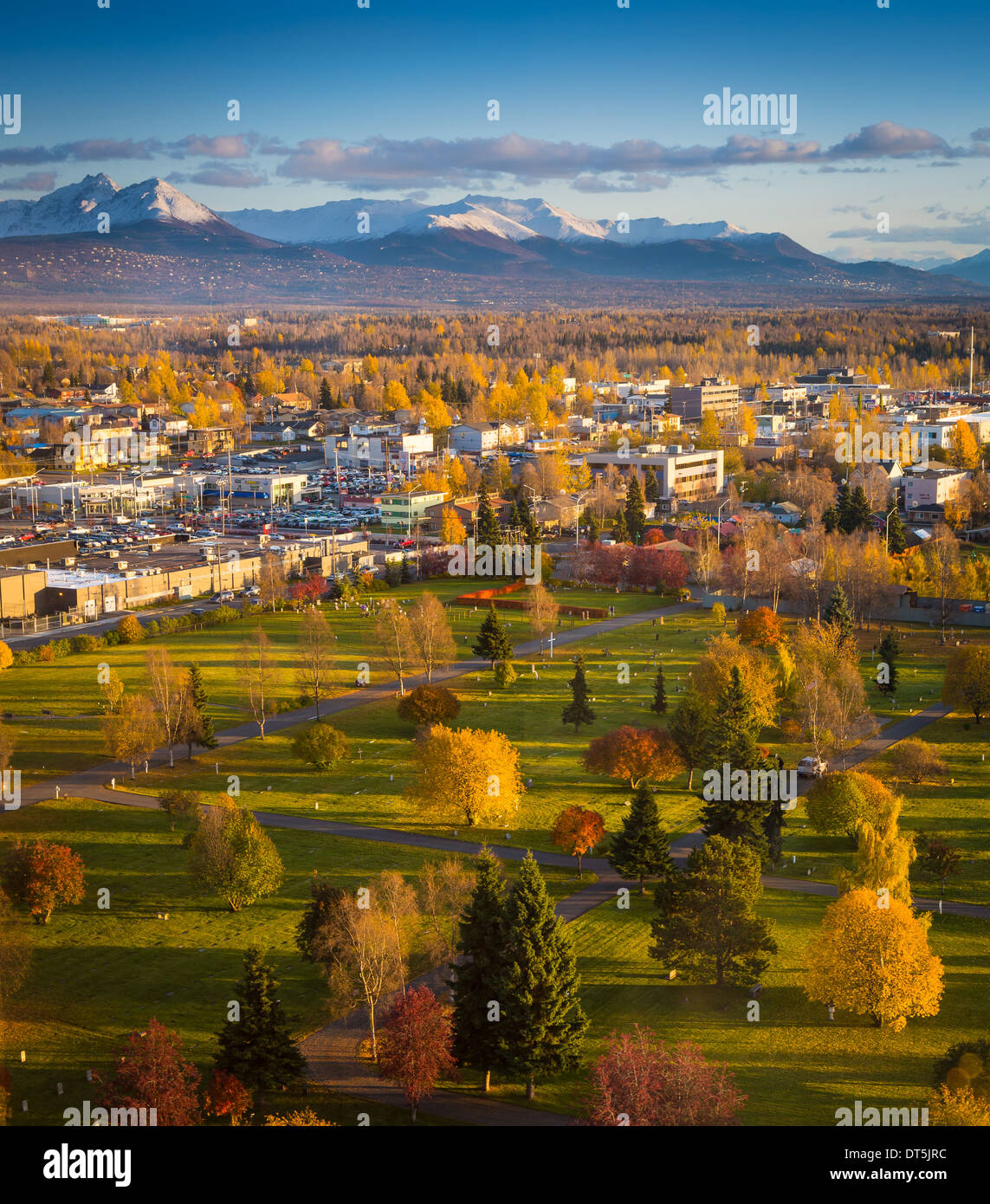 Downtown Anchorage, en Alaska, Foto de stock
