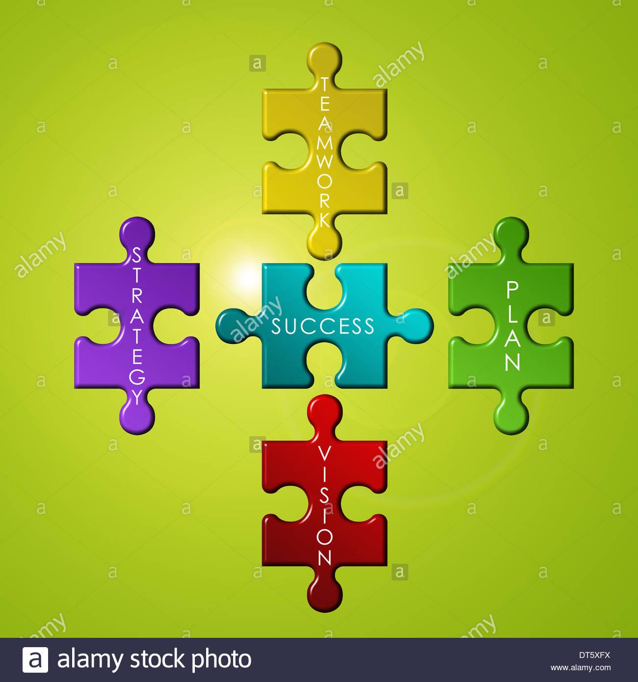 Concepto de puzzle de negocios Imagen De Stock