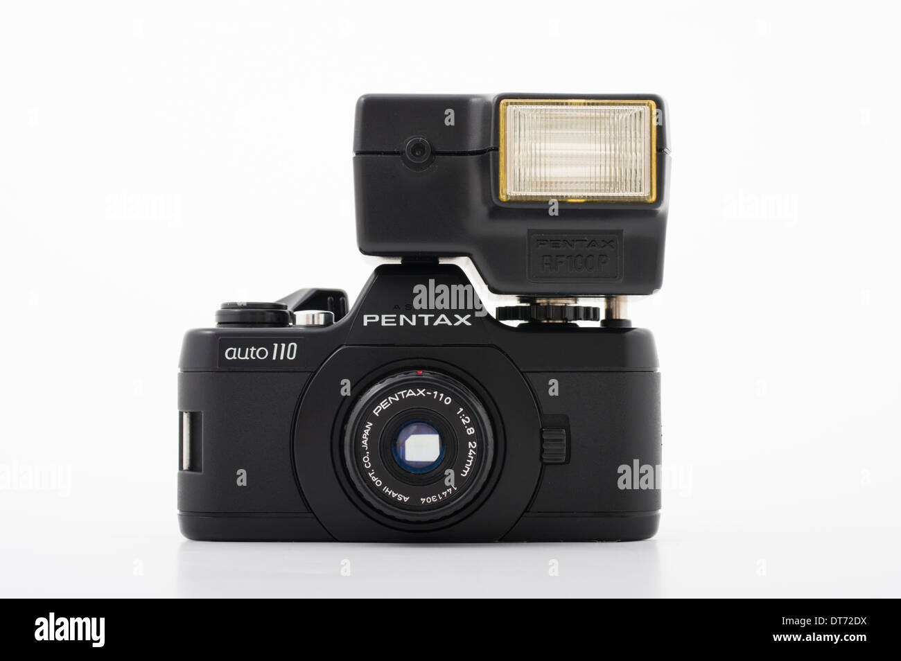 Pentax auto 110 cámara SLR de película mediante Compact 110 film Foto de stock