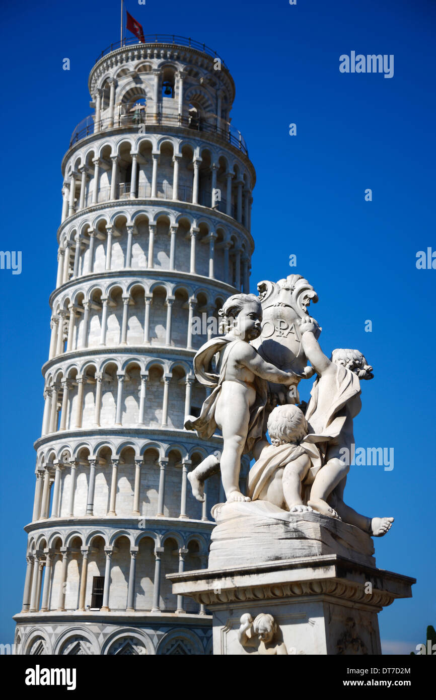 La torre inclinada de Pisa, Toscana Italia Imagen De Stock