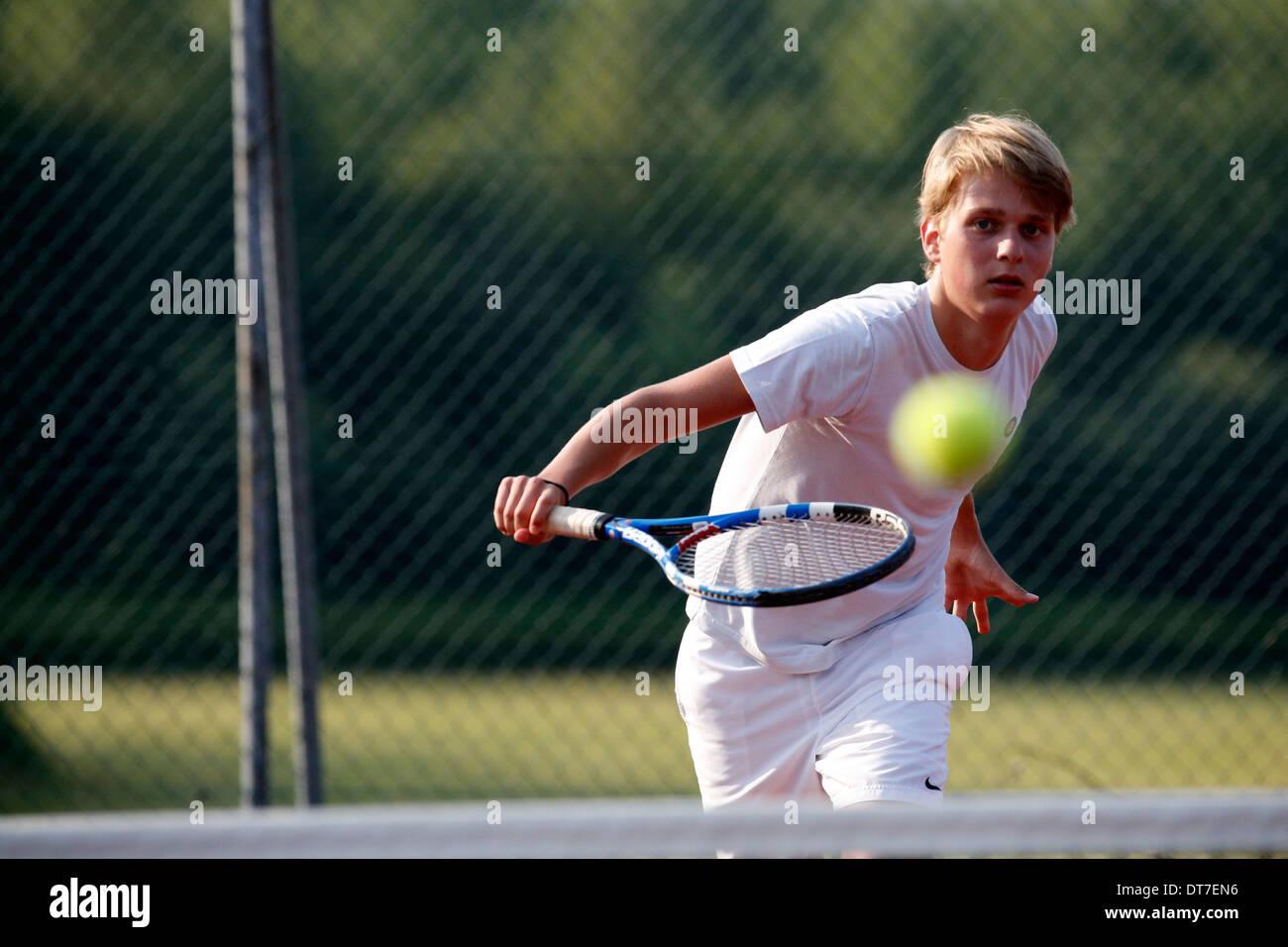 Jugador de tenis. Imagen De Stock