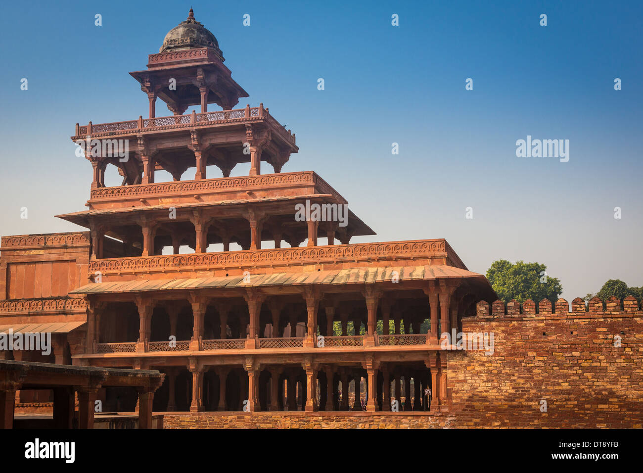 Fatehpur Sikri es una ciudad y una junta municipal en el distrito de Agra, en el estado de Uttar Pradesh, India. Imagen De Stock