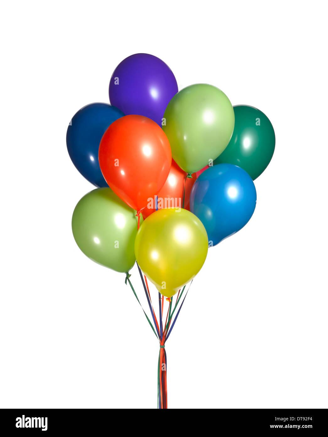 Cortar un disparo de un montón de globos. Imagen De Stock