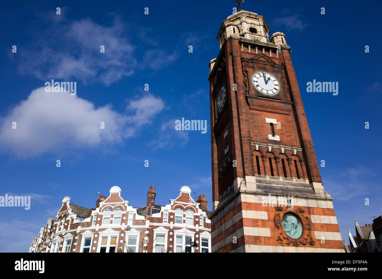 Crouch End Clock Tower, Londres, Inglaterra, Reino Unido. Imagen De Stock