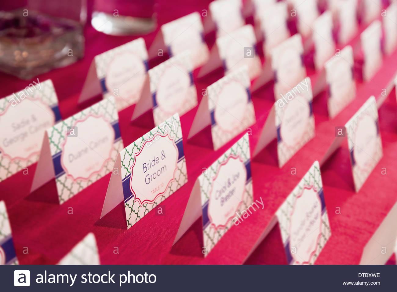 Place Cards Imágenes De Stock & Place Cards Fotos De Stock - Alamy