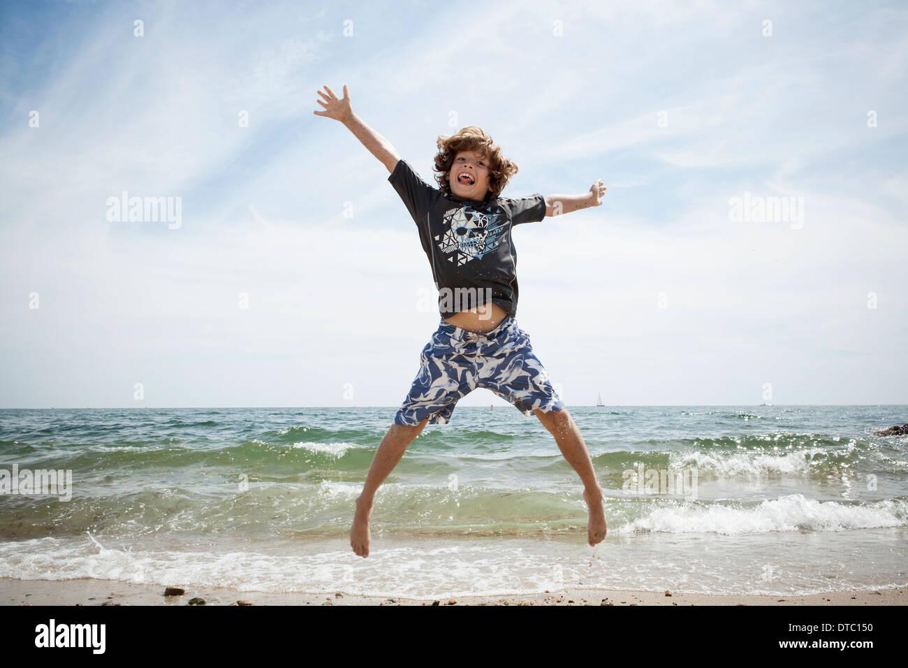 Retrato informal de Salto Chico en la playa en Falmouth, Massachusetts, EE.UU. Imagen De Stock