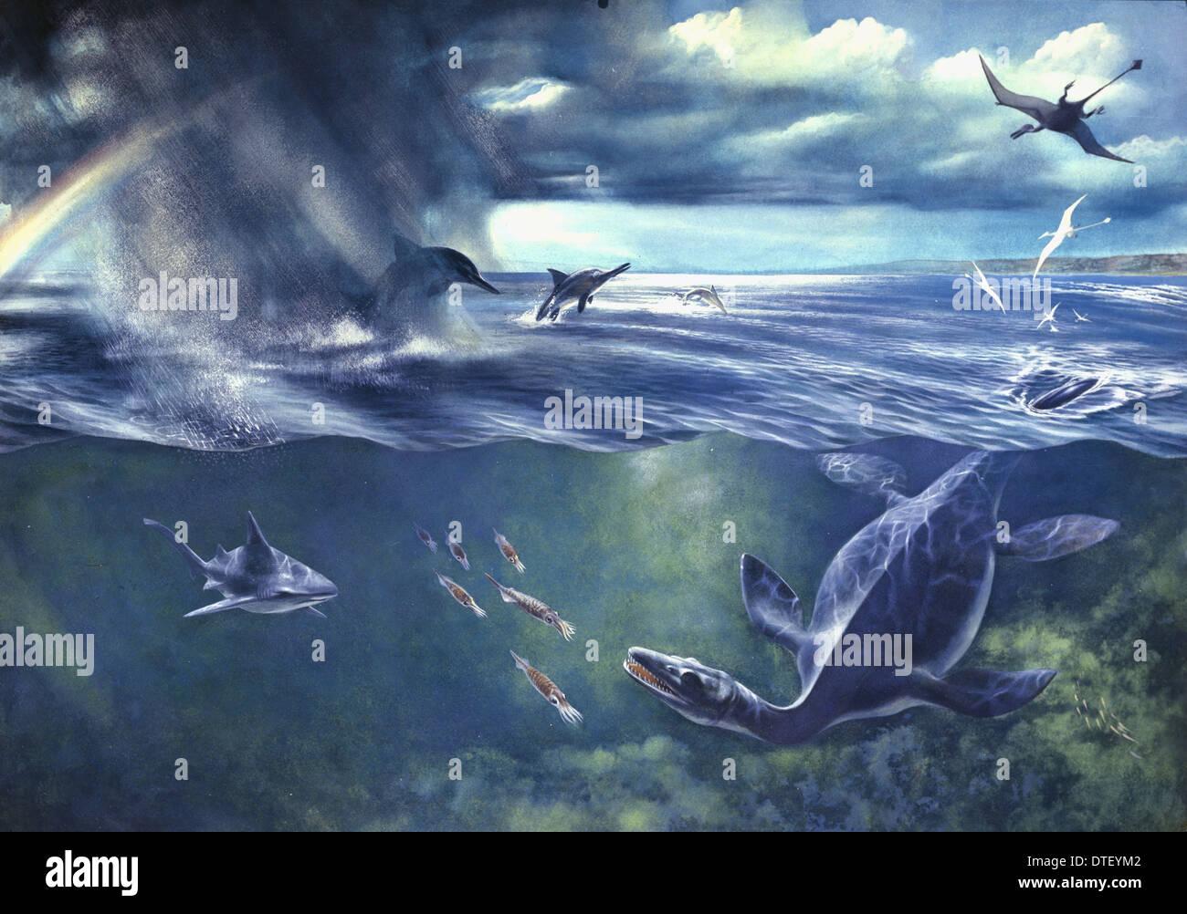 Jurassic seascape Imagen De Stock