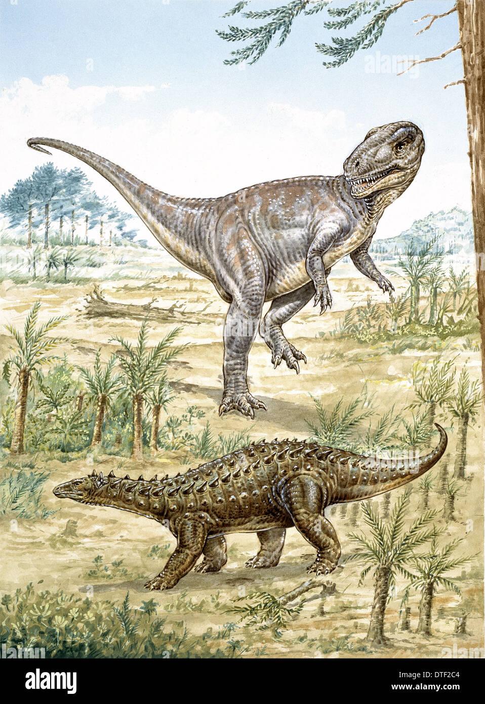 Dinosaurios del Jurásico Inferior descubierto en Inglaterra Imagen De Stock