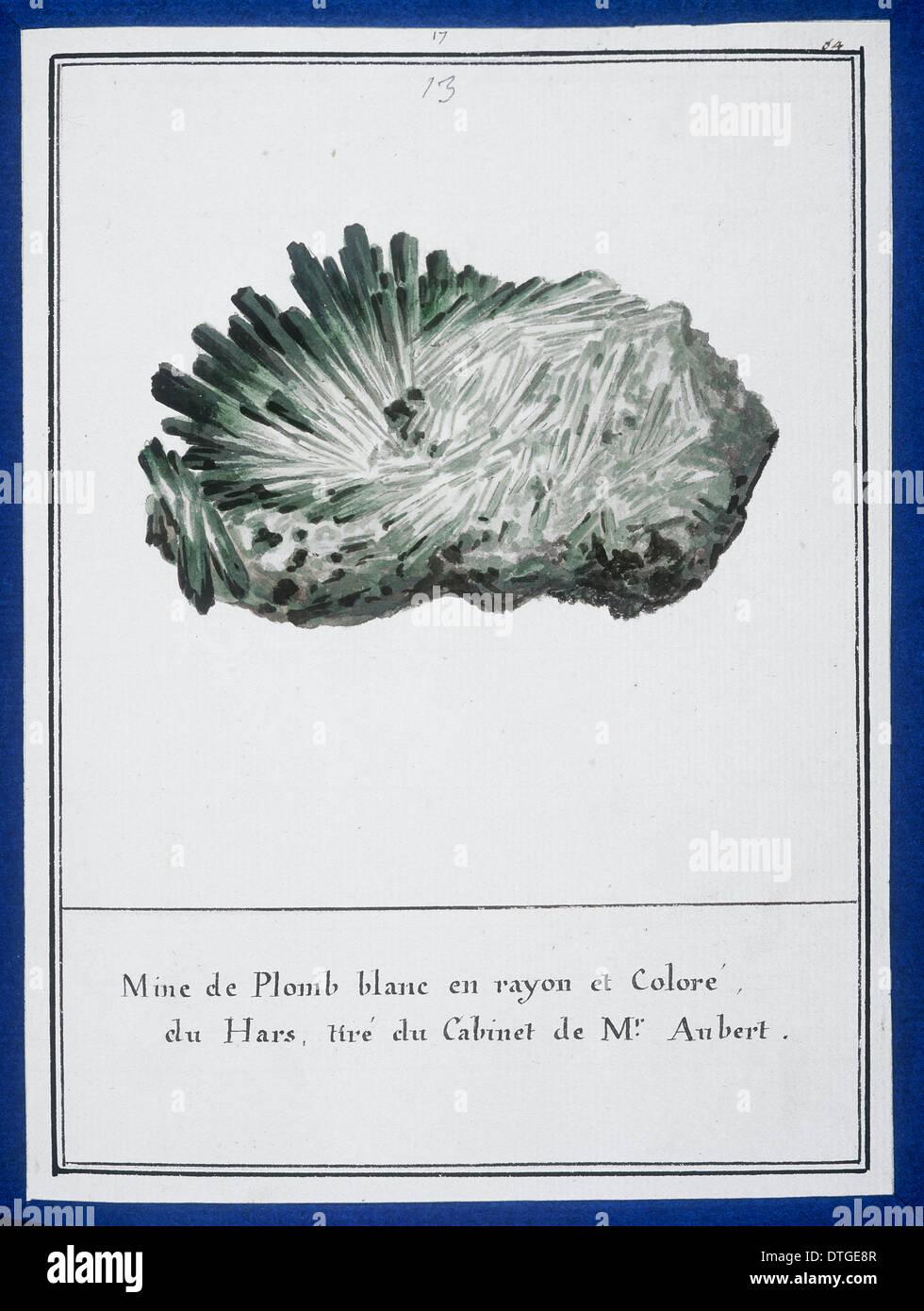 Lámina 13 de mineralogie por Desfontaines Swebach Imagen De Stock