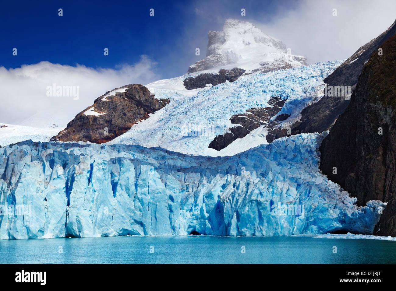 El Glaciar Spegazzini, Lago Argentino, Patagonia, Argentina Foto de stock