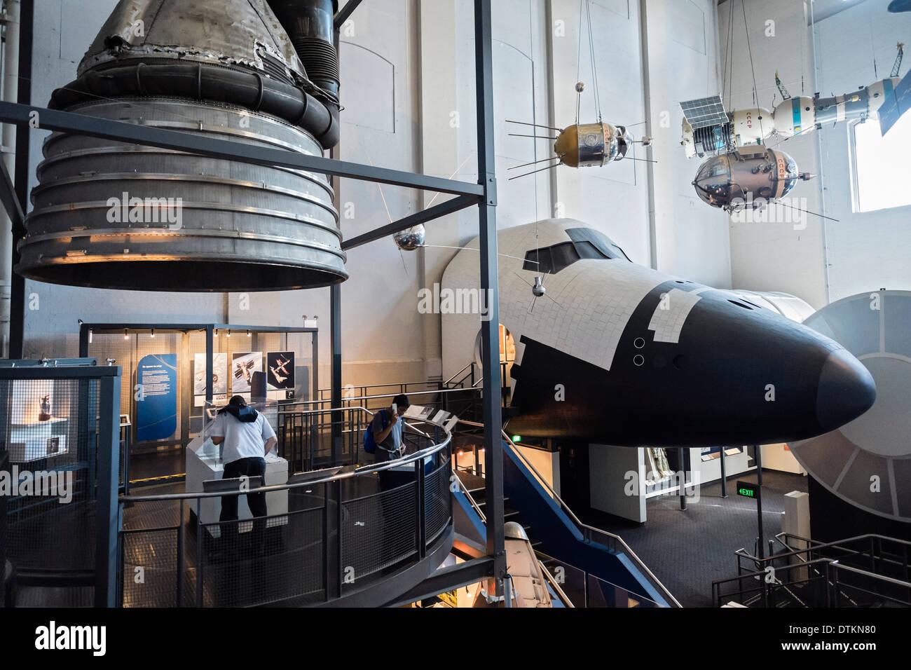 Interior del museo de ciencia y tecnología Powerhouse en Sydney, Australia Imagen De Stock