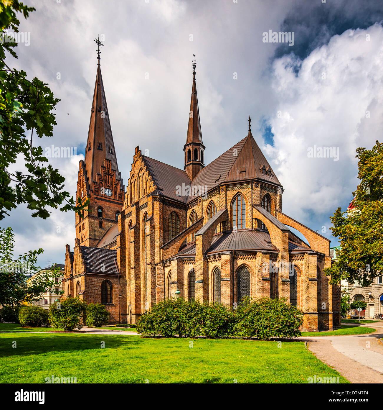 Iglesia de San Pedro en Malmo, Suecia. Imagen De Stock