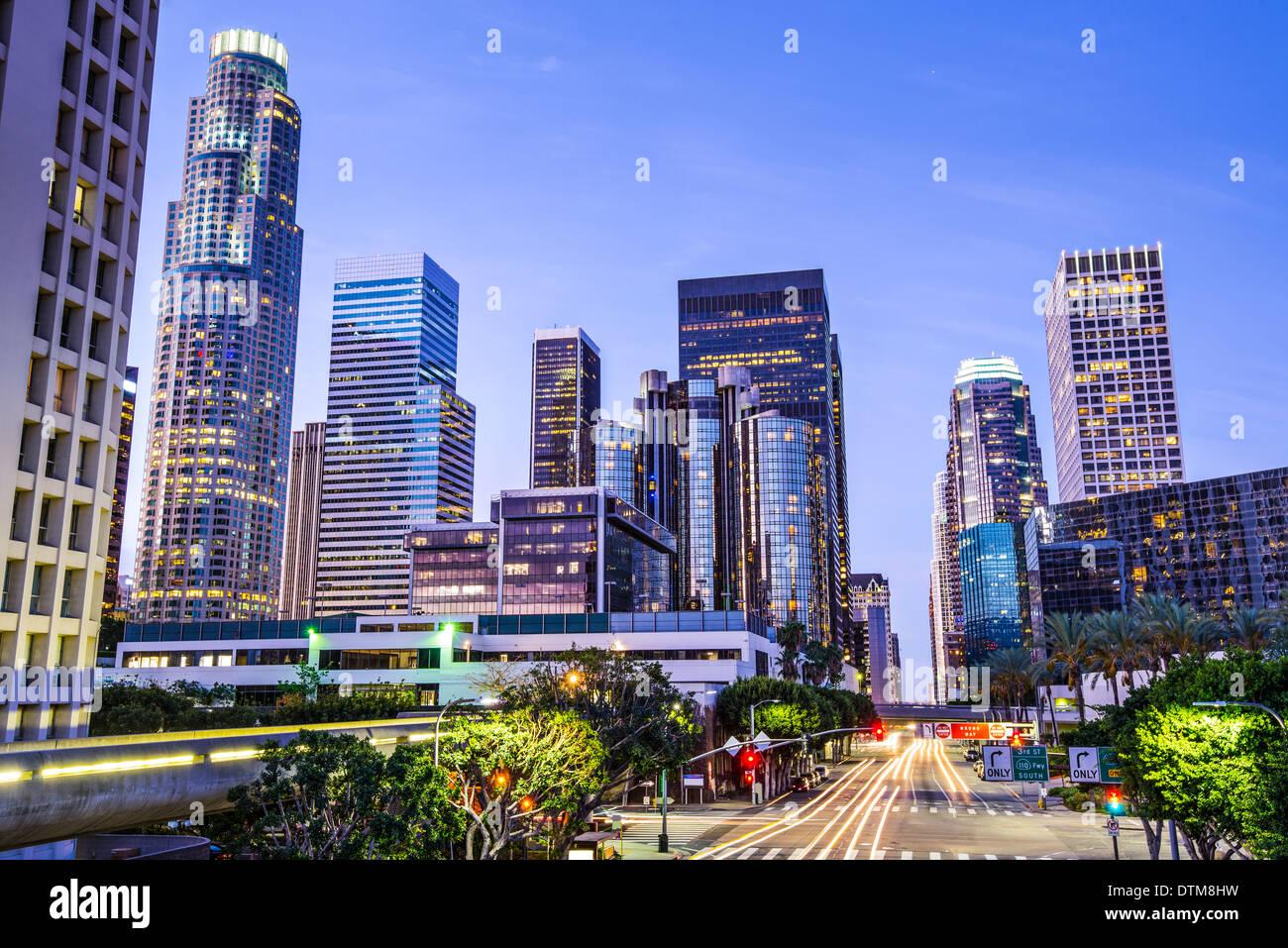 Los Angeles, California, EE.UU. el centro de ciudad. Imagen De Stock