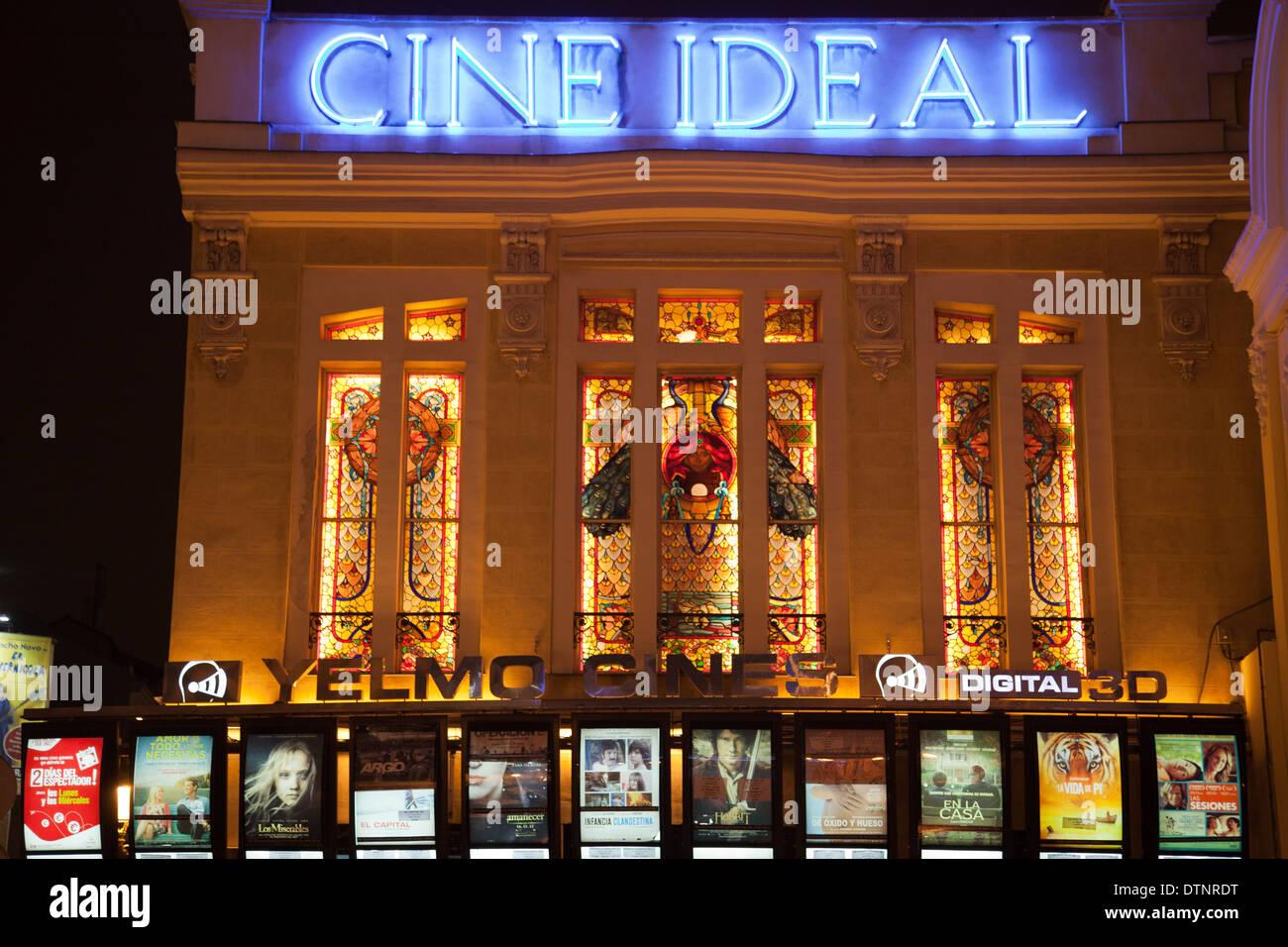Cine ideal en Madrid Imagen De Stock