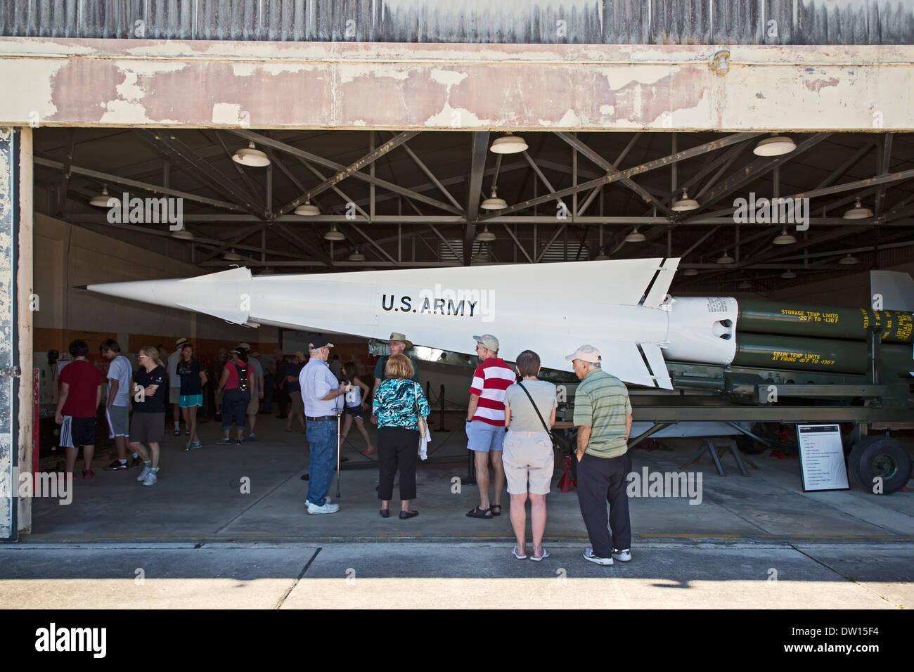 El Parque Nacional Everglades, Florida - Nike Hercules histórico sitio de misiles antiaéreos utilizados durante la guerra fría. Imagen De Stock