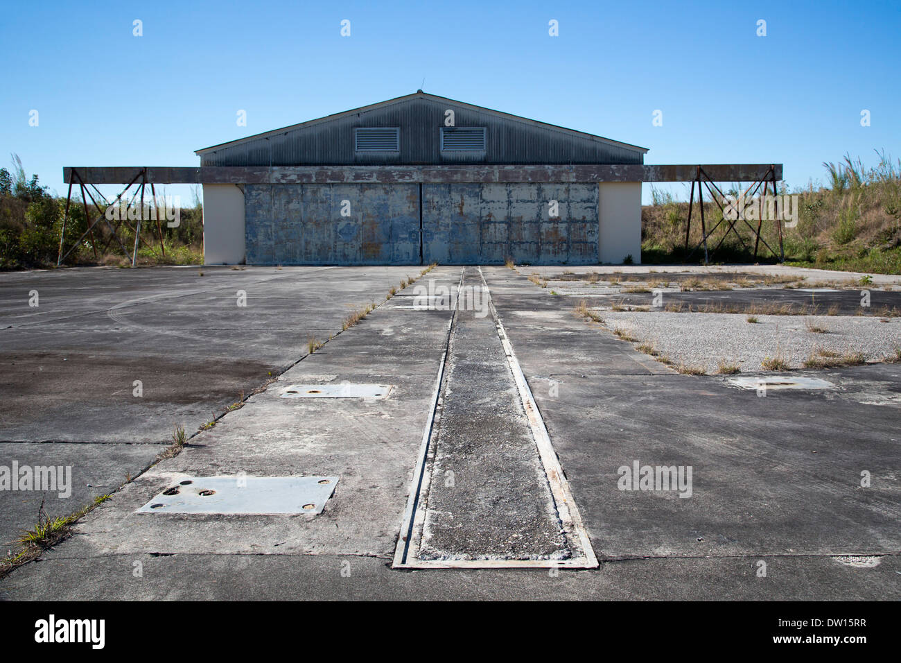 El Parque Nacional Everglades, Florida - Nike Hercules histórico sitio de misiles antiaéreos utilizados durante Foto de stock