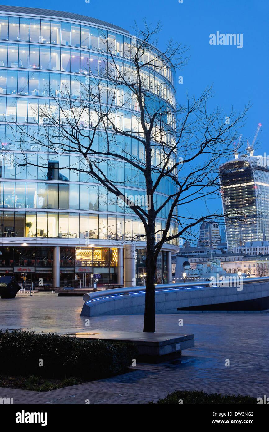 La ciudad de Londres, temprano en la mañana Foto de stock