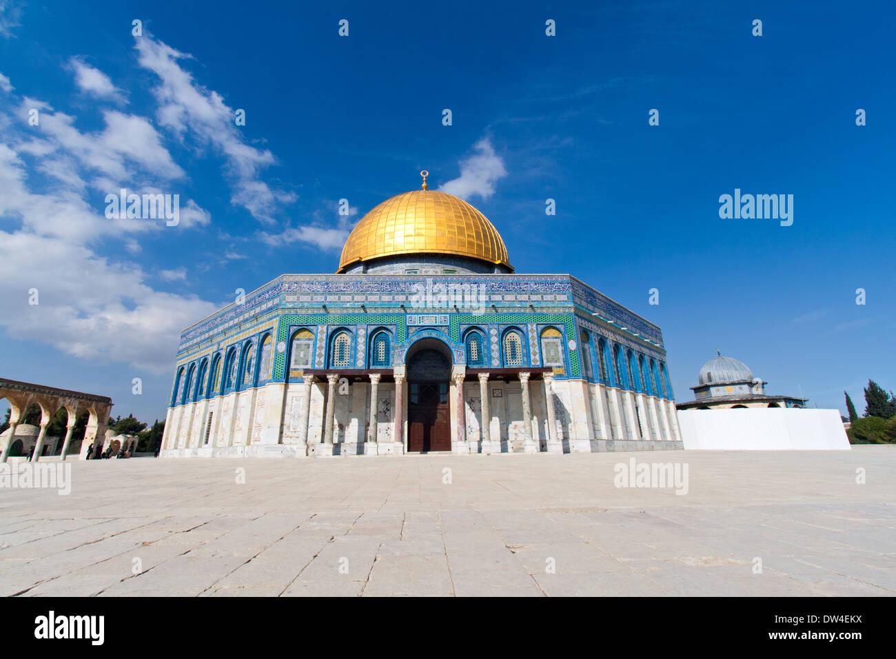 La cúpula de la roca en el Monte del Templo, en Jerusalén, Israel Imagen De Stock