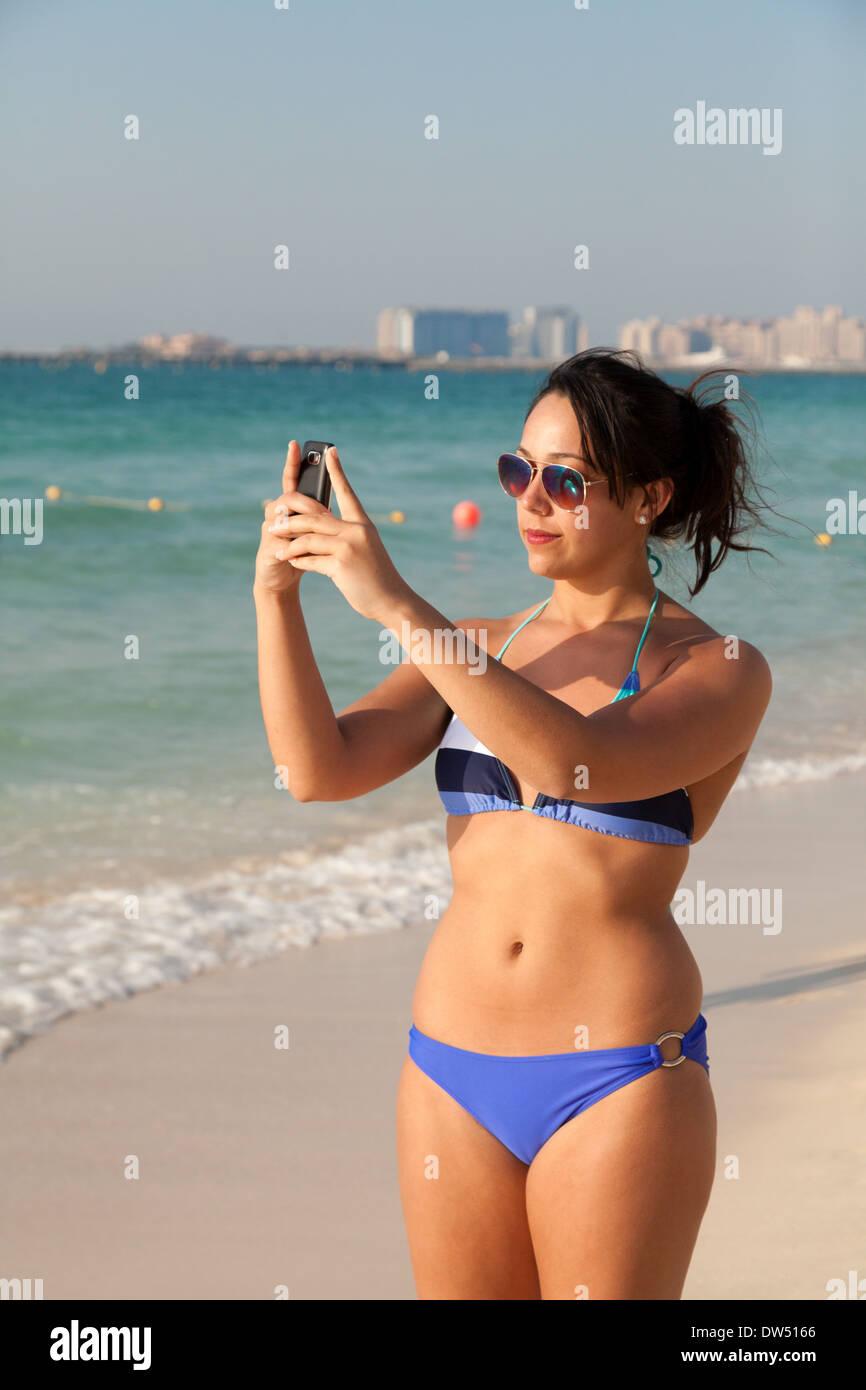 Naked Middle Aged Woman Swimming Goggles Stock Photo