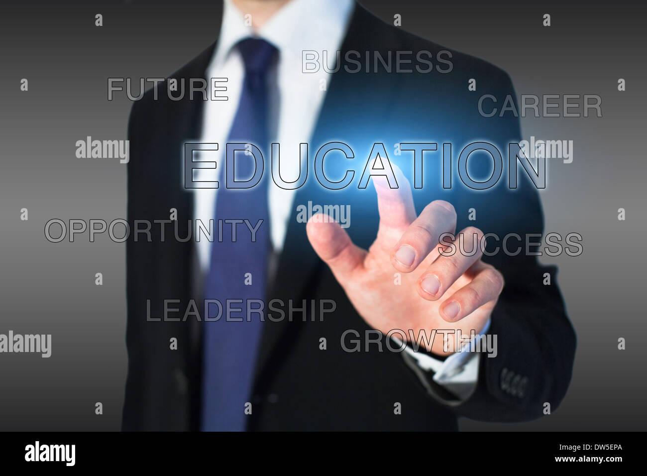 Concepto de educación empresarial, crecimiento profesional. Imagen De Stock
