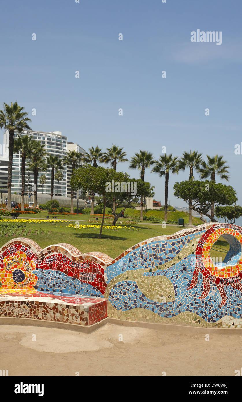 Parque del Amor (Love Park), Lima, Perú. Imagen De Stock