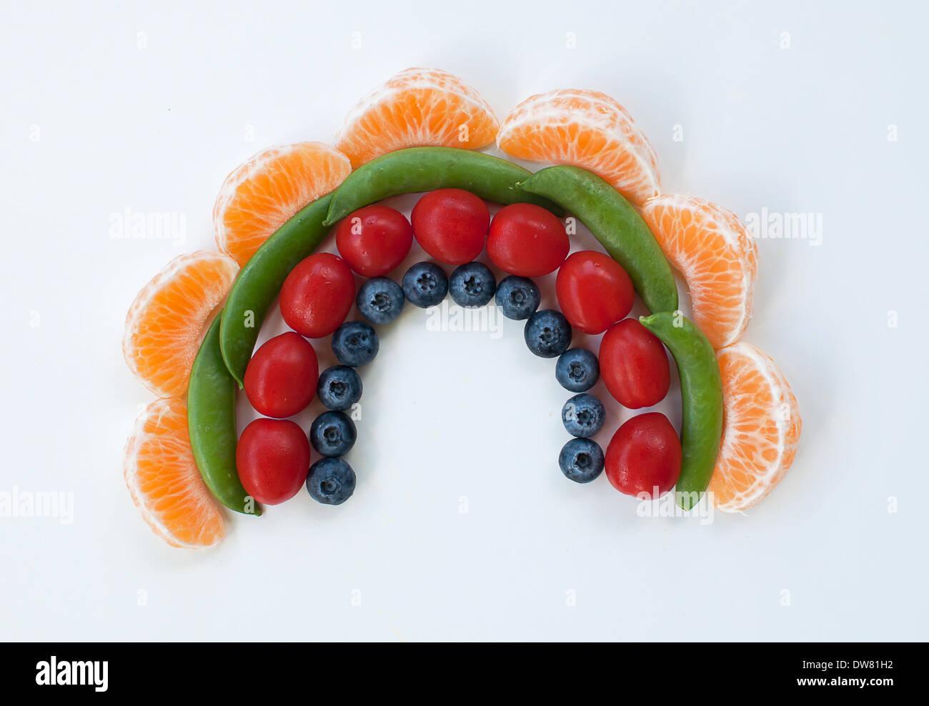 Arco iris de alimentos Imagen De Stock