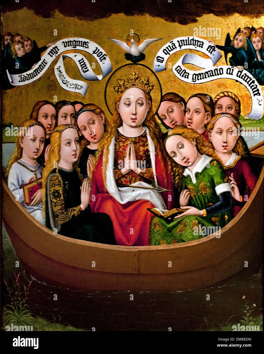 Santa Úrsula y sus compañeras en un buque francés Colmar Francia 1450 Imagen De Stock