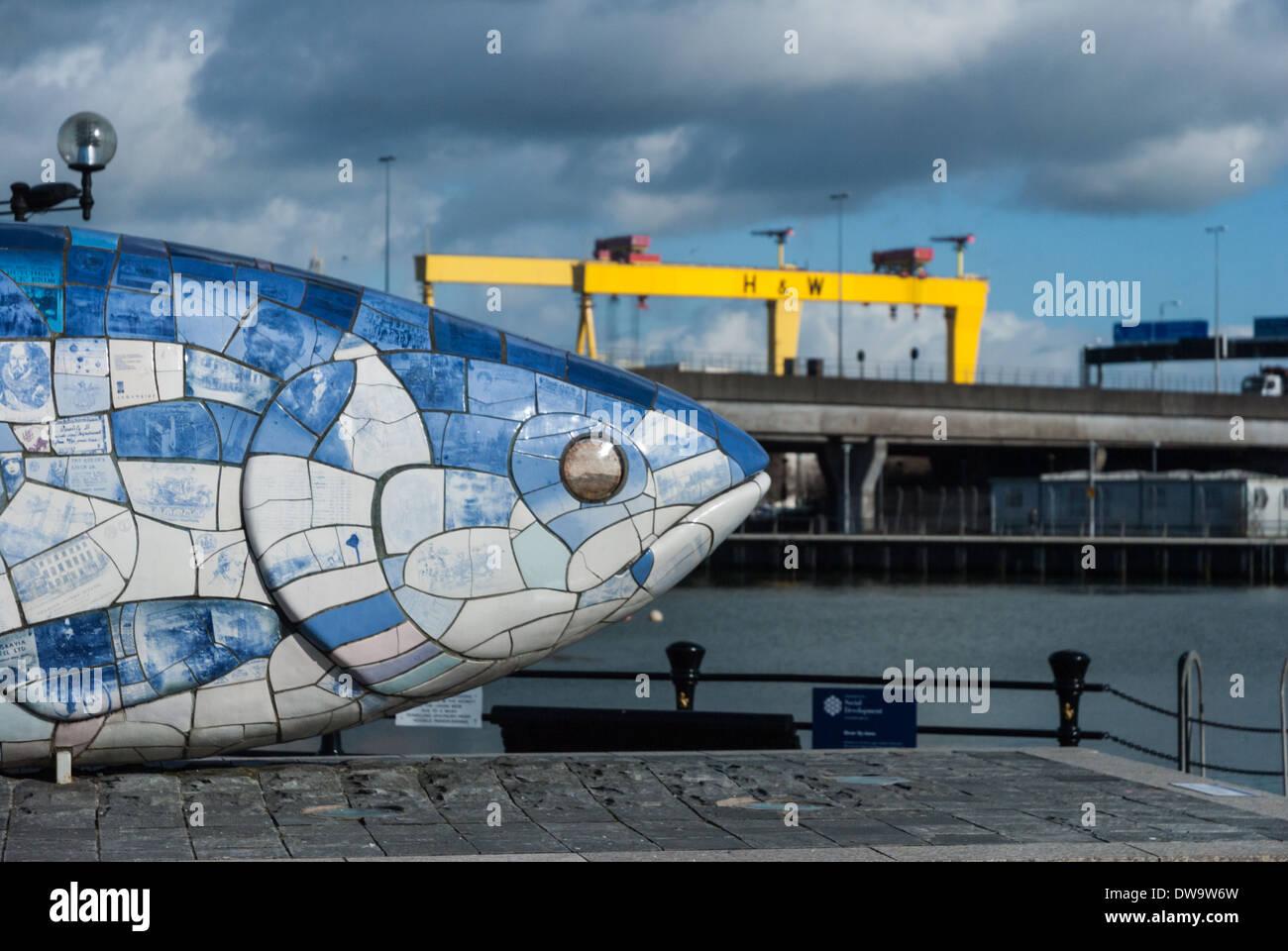 El pez grande Foto de stock