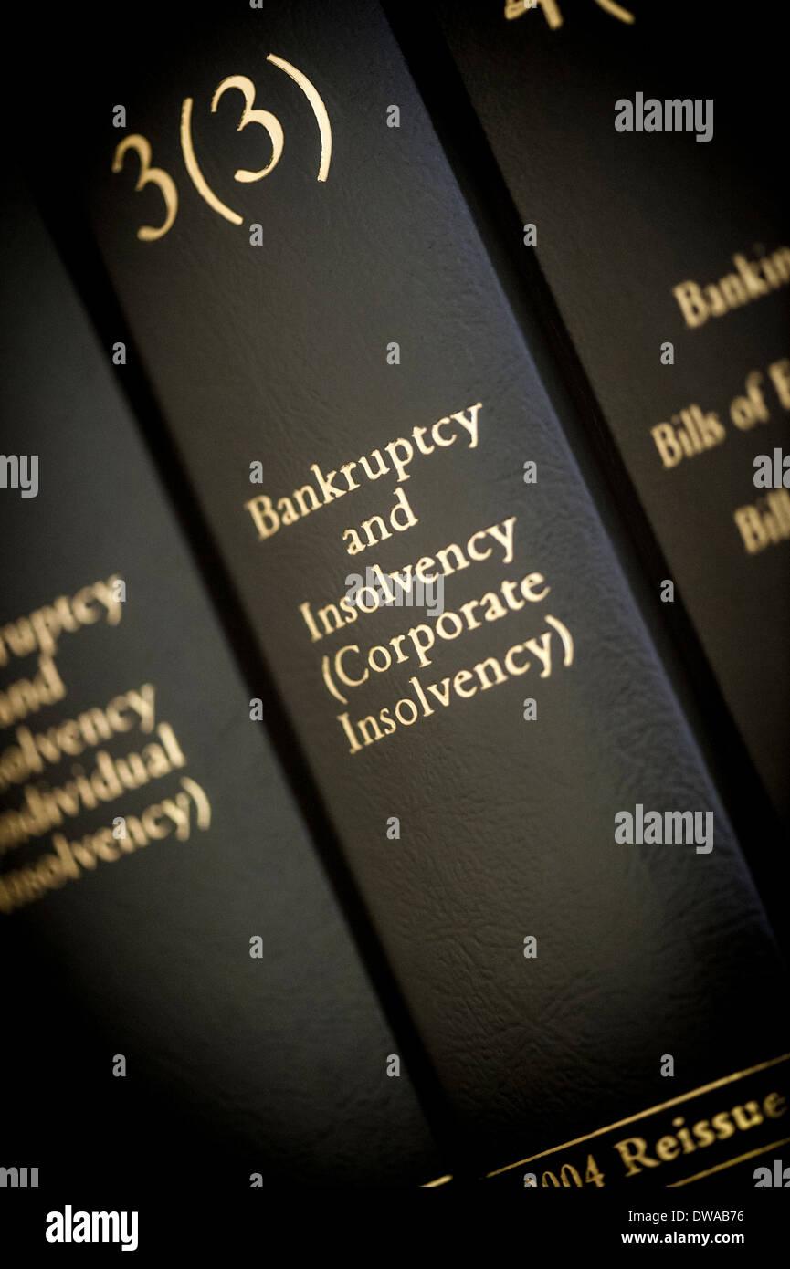 Libro Legal - Quiebra e insolvencia (corporativo) Foto de stock