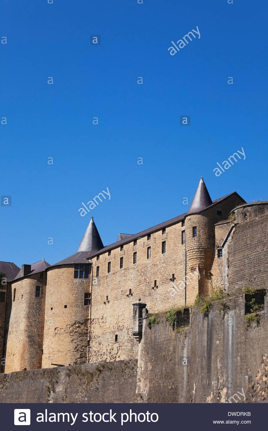 Francia, Champaña-Ardenas, Ardenas, Sedán, vistas al castillo de Sedan Imagen De Stock