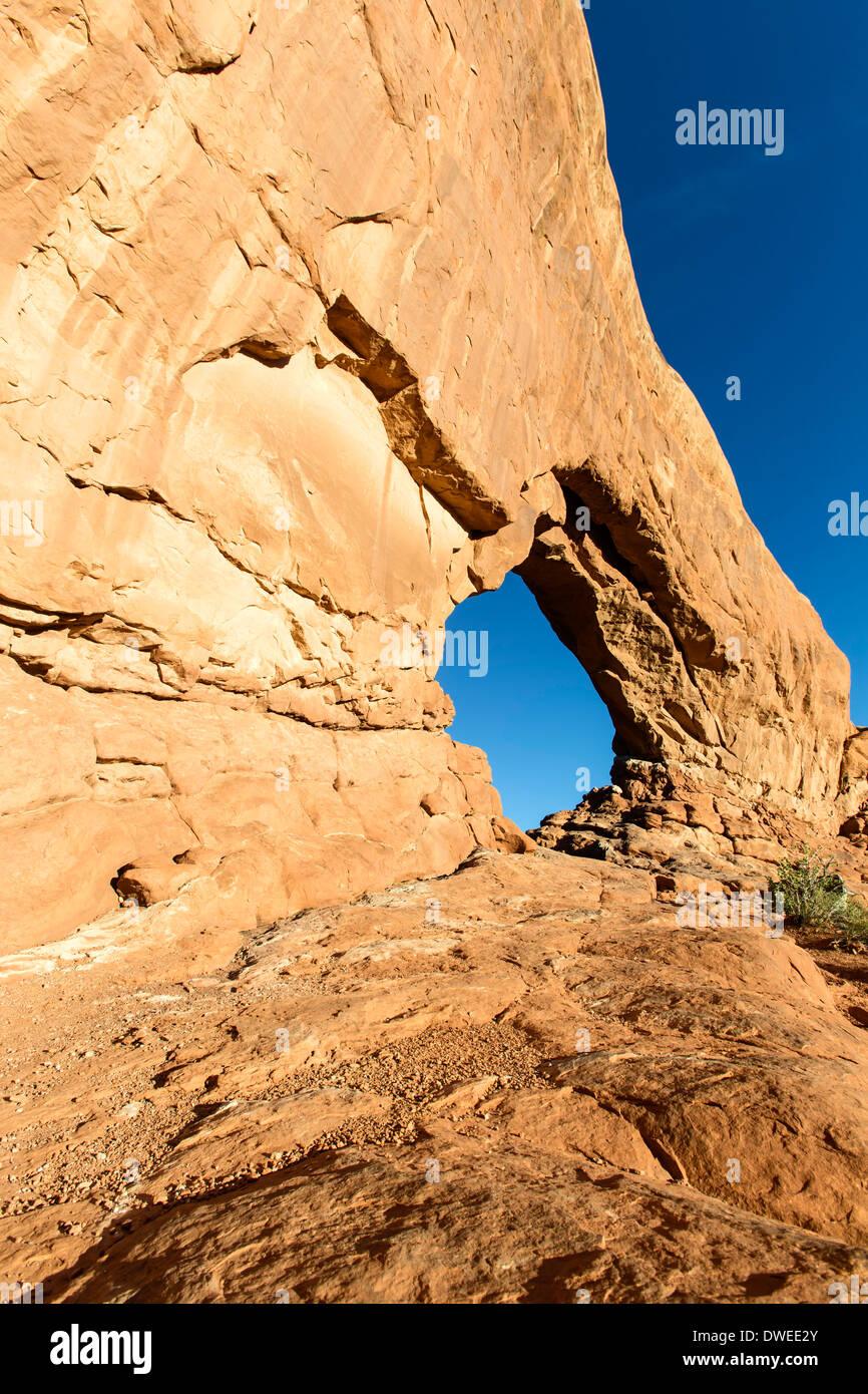 Ventana norte, parque nacional Arches, Moab, Utah, EE.UU. Imagen De Stock