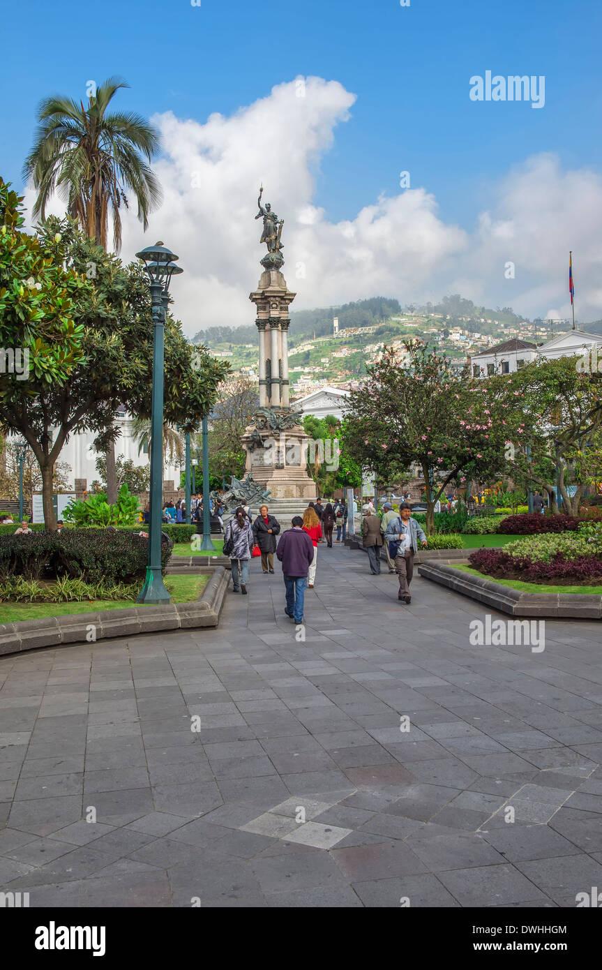 Quito.- La plaza de la Independencia Imagen De Stock