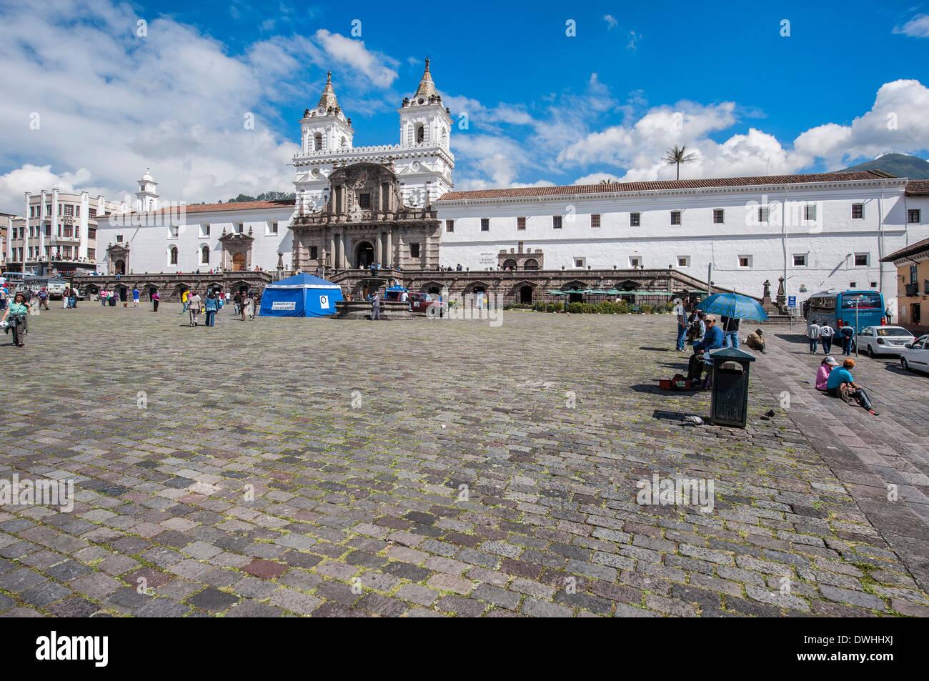 Quito - Iglesia y Convento de San Francisco Imagen De Stock