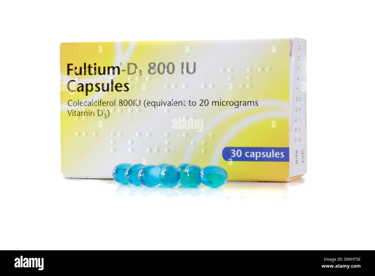 Tabletas de vitamina D Imagen De Stock