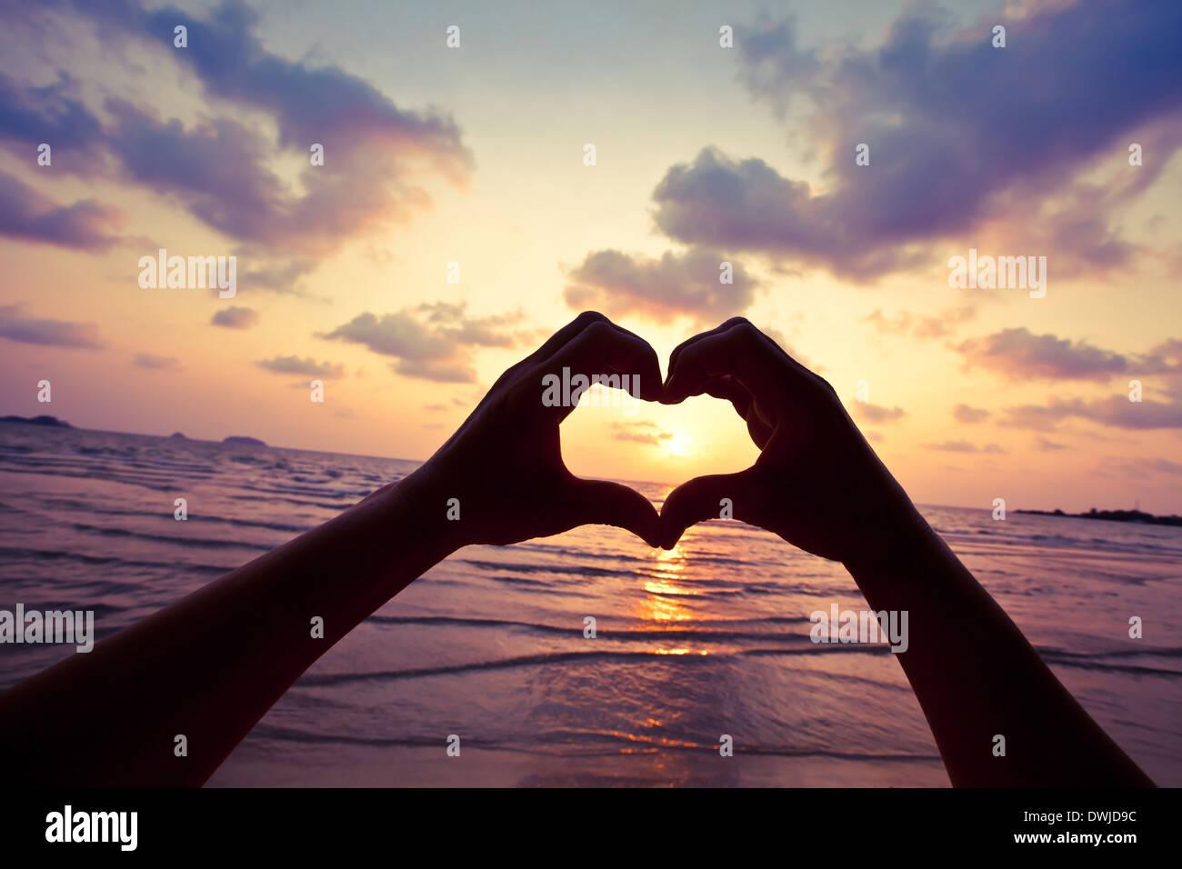 Vive tu sueño, amor, concepto Imagen De Stock