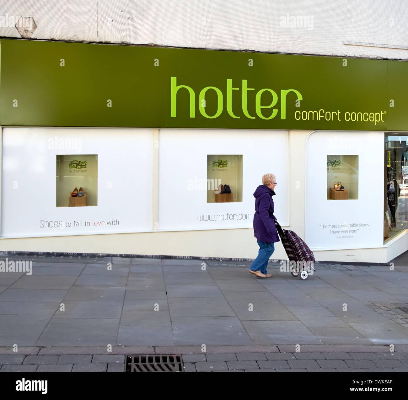Concepto de confort más caliente la zapata delantera tienda minorista Imagen De Stock