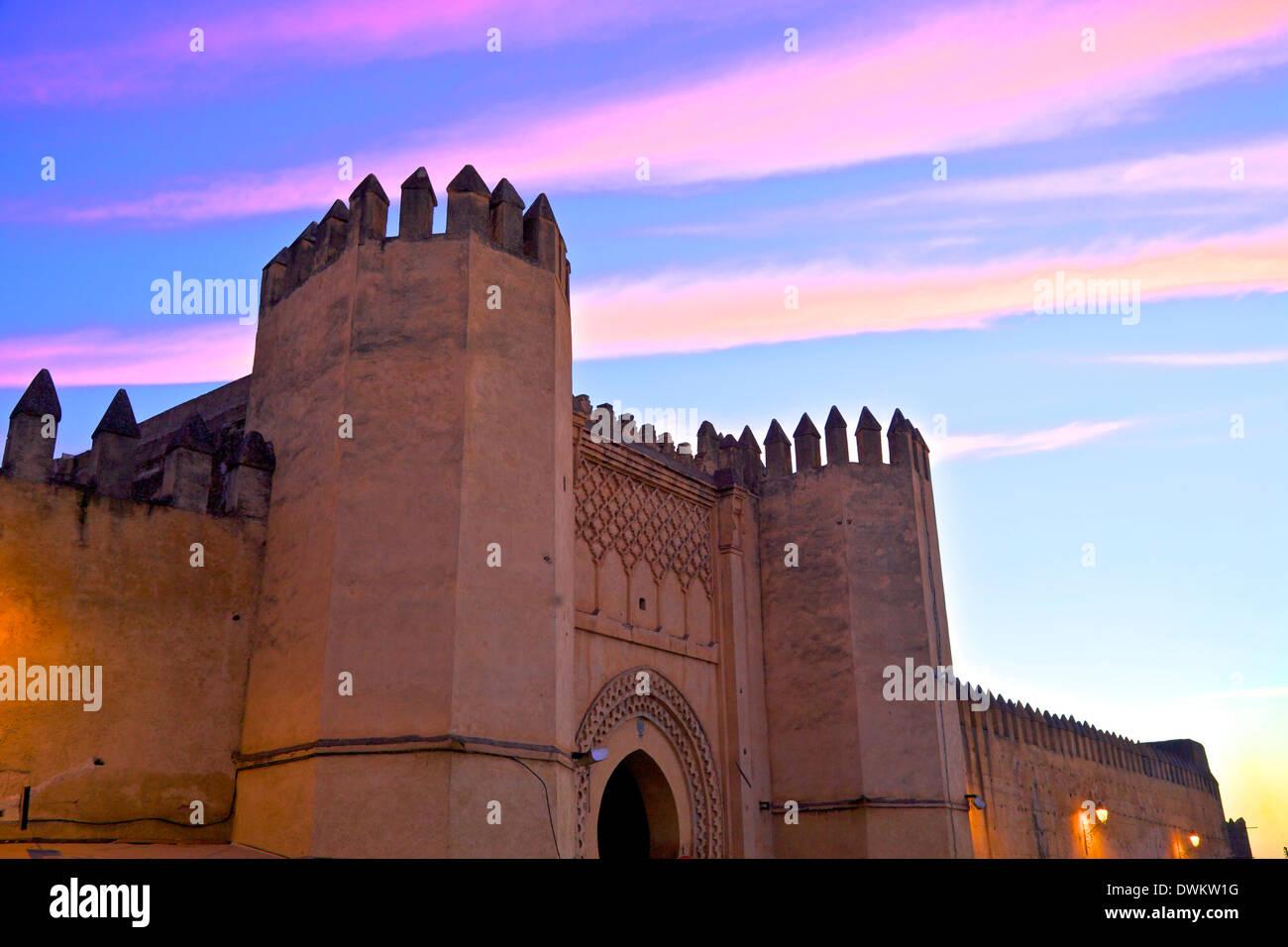 Lugar Bou Jeloud, Fez, Marruecos, Norte de África, África Imagen De Stock
