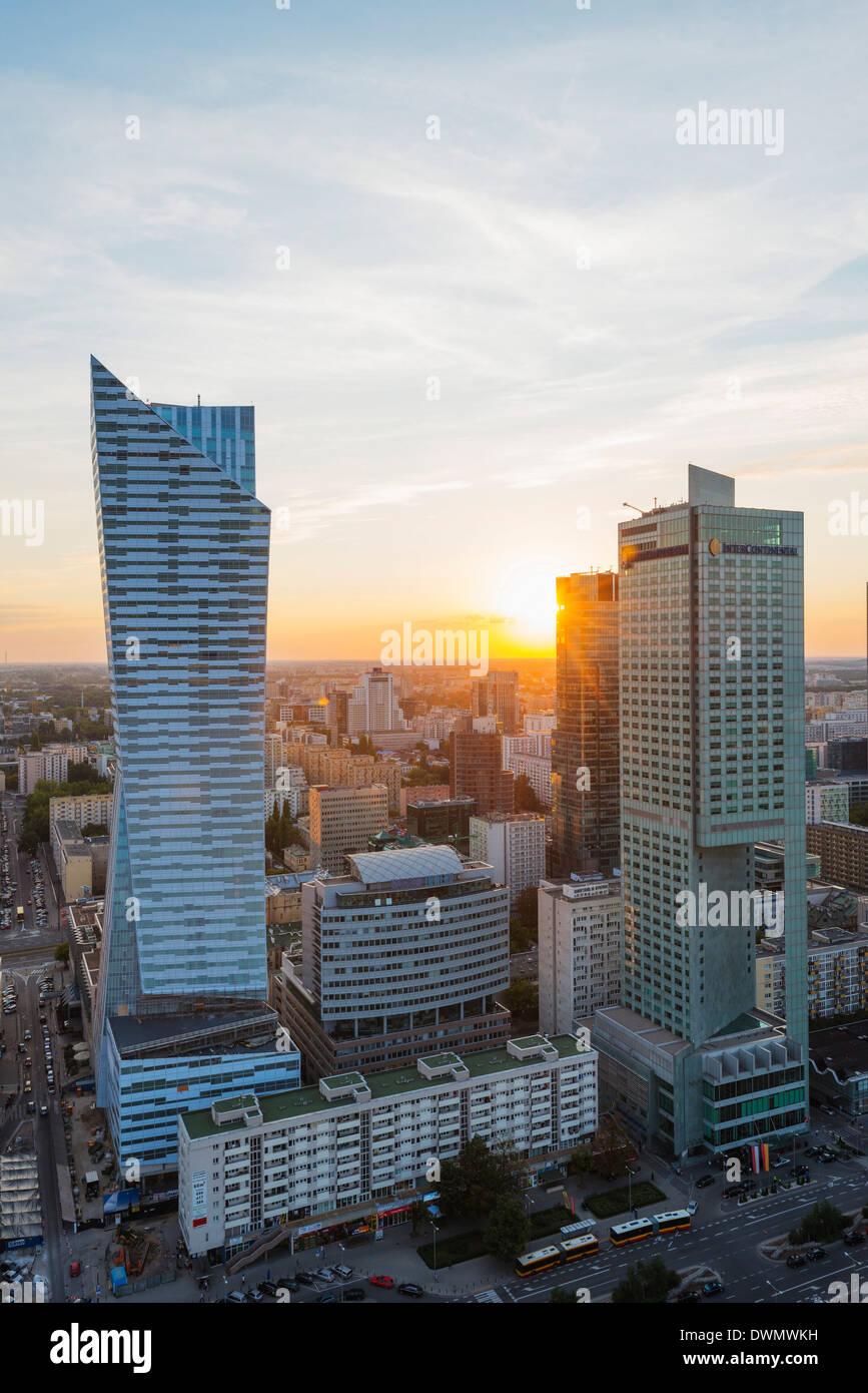 Vista de la ciudad desde el Palacio de la cultura y la ciencia, Varsovia, Polonia, Europa Imagen De Stock