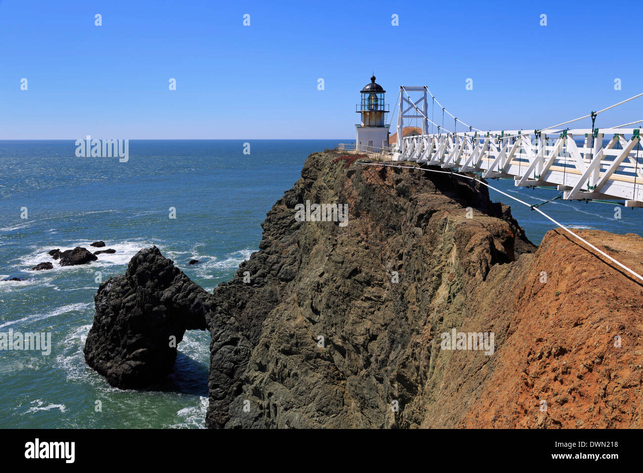 Faro de Punta Bonita, Golden Gate National Recreation Area, Marin County, California, Estados Unidos de América, América del Norte Imagen De Stock
