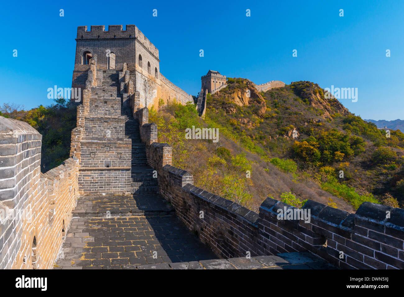 La Gran Muralla de China, el sitio de la UNESCO, que data de la dinastía Ming, el tour caminando Jinshanling, Luanping County, provincia de Hebei, China Imagen De Stock