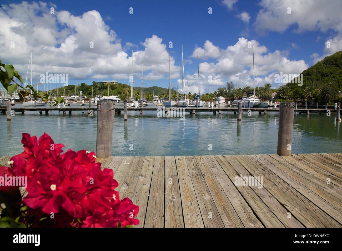 Jolly Harbour, a Santa María la Antigua, Islas de Sotavento, Antillas, Caribe, América Central Imagen De Stock