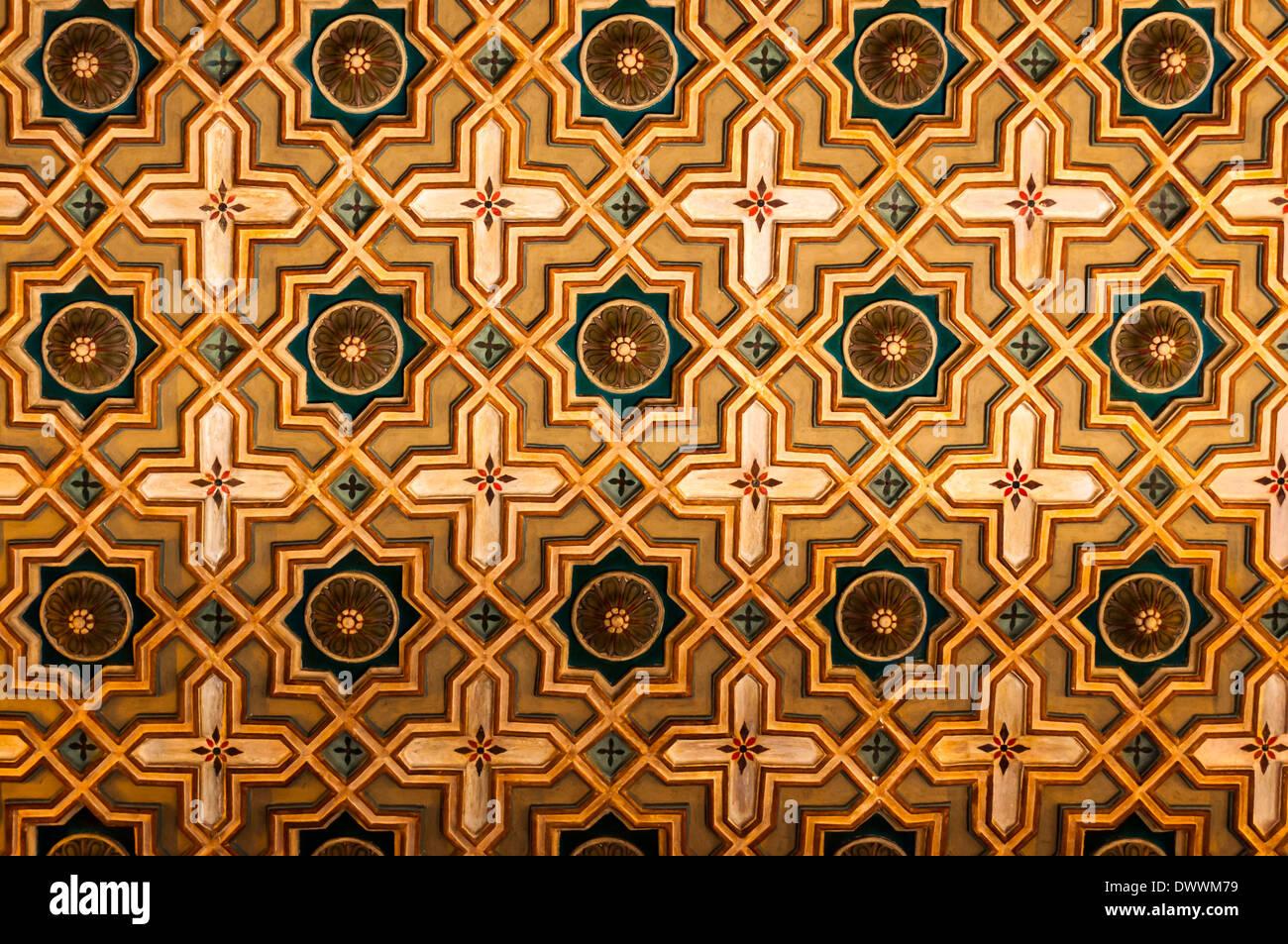 Techo de la biblioteca del Ateneo barcelones, Barcelona, Cataluña, España Foto de stock