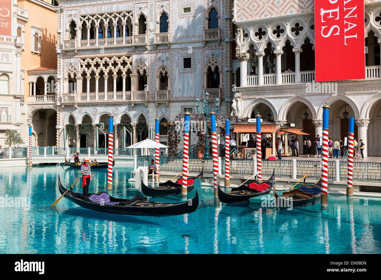 Las Vegas, El lujoso hotel de Venecia Imagen De Stock