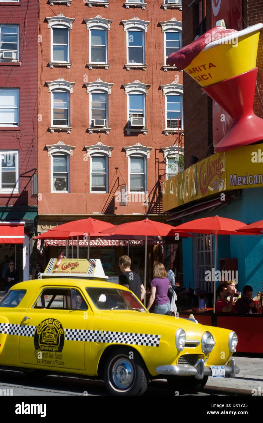 Cabina caliente restaurante en Greenwich Village. 61 7th Avenue. (A partir  de las 25b08546fb9