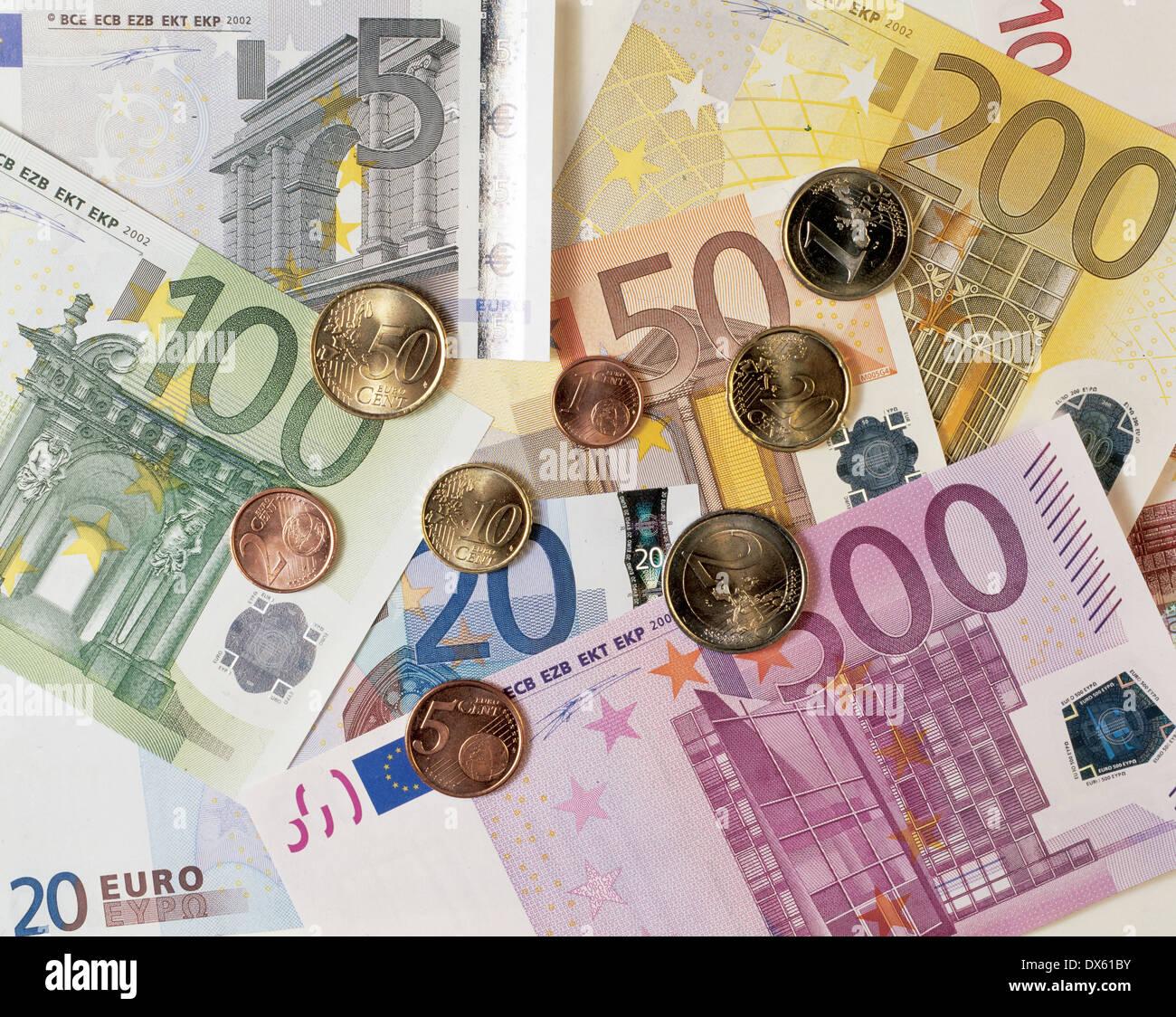 Euros. Still life. Imagen De Stock