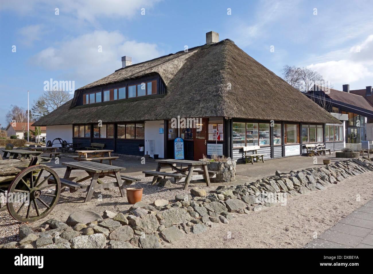 Museo de los Roldán Área forestal en la entrada al Parque Nacional Rebild de Jutlandia, Dinamarca Foto de stock